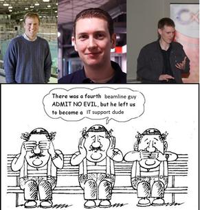 R-L: Nigel Kirby, Adrian Hawley, Stephen Mudie